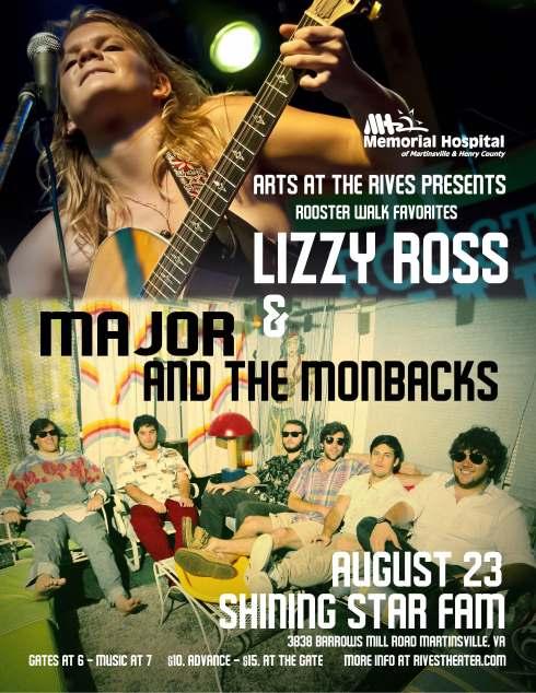 Lizzy Monbacks farm show Flyer